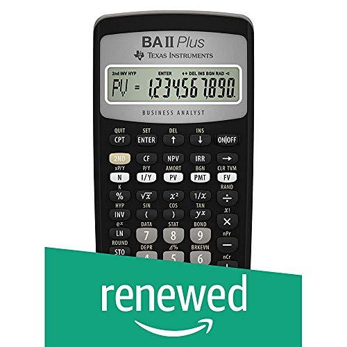 Texas Instruments BA II Plus Financial Calculator (Renewed)