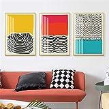 Wfmhra Moderne mehrfarbige rot-Blaue geometrische abstrakte