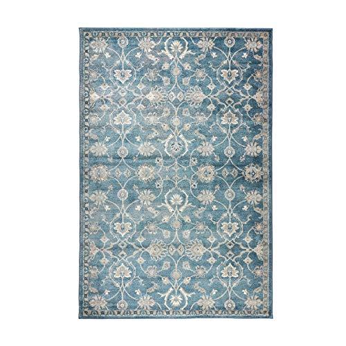 havatex Design Teppich Lilly Ranken modern - Farben Creme oder Blau   Muster Ranken floral  ...