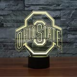 Lucky2Buy NCAA Ohio State University Team Logo Phone Remote Control Optical Decor Toy Lamp