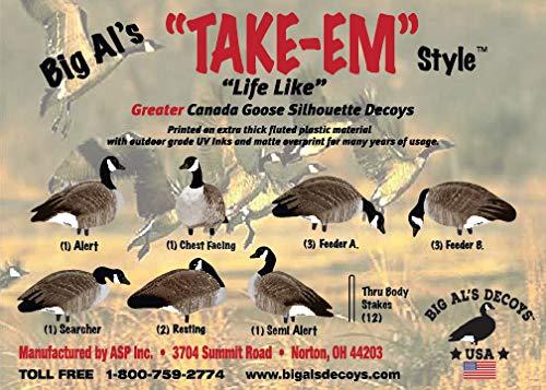 Greater Canada Goose Silhouette Decoys-Thru Body Stake