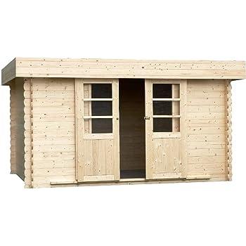 Alpholz EVERE - Caseta de jardín de madera de abeto con tejado de ...