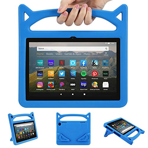"""All-New 8 Inch Tablet 2020 Case, 8"""" Display Tablet Case 2020 Release 10th Generation, Ubearkk Kickstand Anti-Slip Shockproof Kids Friendly Protective Case Cover(Blue)"""