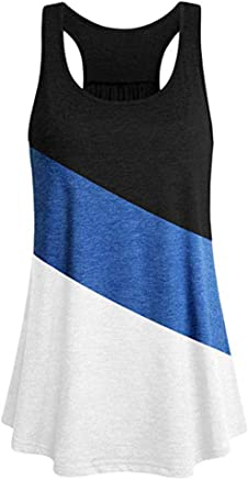 Women's Tank Tops Yoga Sports Sleeveless Round Neck Racerback Workout Running Top Camisole Vest