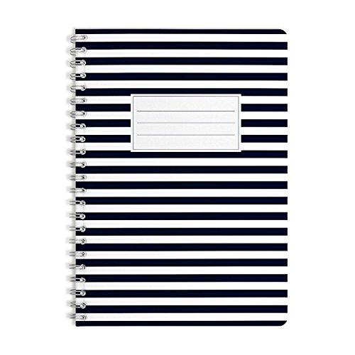 WIREBOOKS Notizbuch | Notizblock | Notizheft | Spiralblock 5007 DIN A5 120 Seiten 100g Papier liniert
