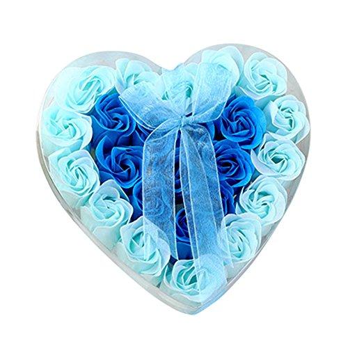 24 jabón de flores de jabón de rosas, limpiador y desintoxicante, hidratante y equilibrio agua-aceite, hecho a mano (a)