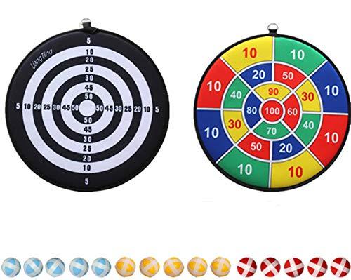 Double Side Kinder Dartscheibe mit 15 Sticky Balls, Kinder Brettspiele Spielzeug. Indoor Outdoor Safe Klassisches Dart-Brettspiel für Kinder, Kinder (34,5 cm)