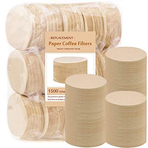 Ersatz-Kaffeefilter aus Papier, rund, ungebleicht, kompatibel mit Aerobie Aeropress Kaffee- und Espressomaschinen, 1500 Stück