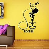 Tubo pegatinas de pared arte tatuajes de pared decoración del hogar papel tapiz tubo humo resto patrón autoadhesivo