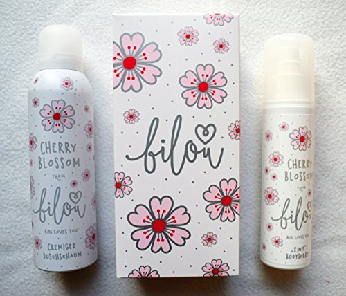 Bilou Cherry Blossom Doppelpack 2 in 1 Bodyspray 150 ml & Cremiger Duschschaum 200 ml