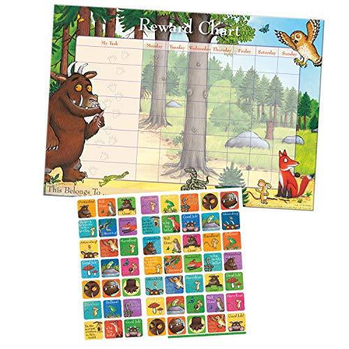 Paper Projects 01.70.30.016 Grüffelo-Belohnungstafel und Wiederverwendbare Aufkleber