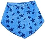 Playshoes Baby-Unisex mit Klettverschluss an der Rückseite, mit Sternen-Muster legeres Hals-Tuch, blau, one size