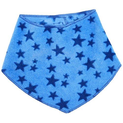 Playshoes Fleece-Dreieckstuch Sterne Foulard, Blu (Blau 7), Taglia Unica Bambina