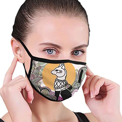 N/A Mond Masker Egyptische Kat Bastet Vector Afbeelding Volwassene Unisex Wasbaar Herbruikbaar Polyester Anti Stof Mond Masker In Packs