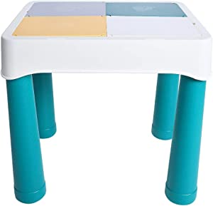 Zerodis Multi-Functional Bricks Table,Table Portable Detachable for Kids Building, Drawing, Reading, Dining, Learning - Toddler Play and Study Desk