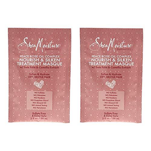 Shea Moisture Peace Rose Oil Complex Nourish & Silken Treatment Masque Pack Of 2, Oz