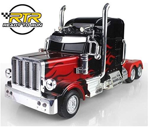 Unbekannt RC Lastwagen USA Freightliner Ferngesteuerter Truck 69cm Länge- Hammerbeleuchtung Rennauto Monster Truck ferngesteuertes Auto Buggy