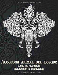Acogedor animal del bosque - Libro de colorear - Relajación e inspiración