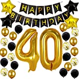 Happy 40th Birthday Decorations For Men Women 40 Birthday Balloon 40 Years Old Paty Decorations