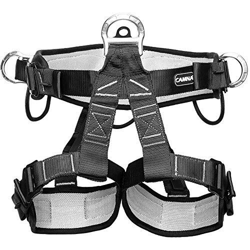 HPDOE Absturzsicherung Sicherheitsgurt Taille Klettergurt CE Zertifiziert für Bergsteigen Sportklettern Baumklettern Feuerwehr Outdoor