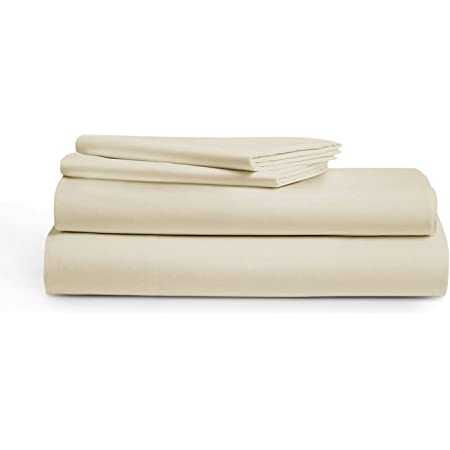 Amazon Com 800 Thread Count 100 Cotton Sheets Ivory Queen Size Sheet Set 4 Piece Long Staple Egyptian Cotton Luxury Sheets For Bed Breathable Soft Silky Sateen Weave Fits Mattress 16 Deep Pocket Kitchen
