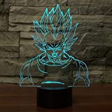 Neon Lights Bar Vegeta 3D Visual Lamp 16 Cambios de Color Luces LED 3D Regalo de cumpleaños Navidad
