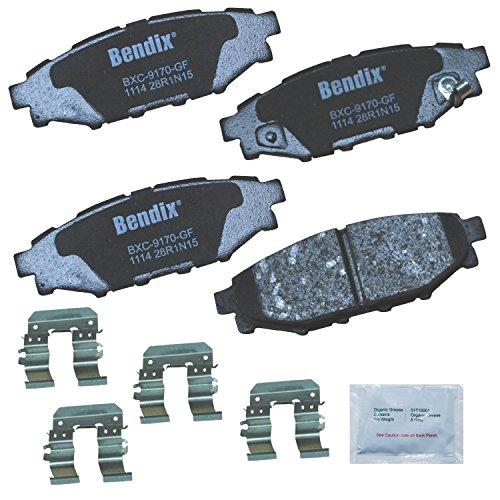 Bendix Premium Copper Free CFC1114 Ceramic Brake Pad (with Installation Hardware Rear)