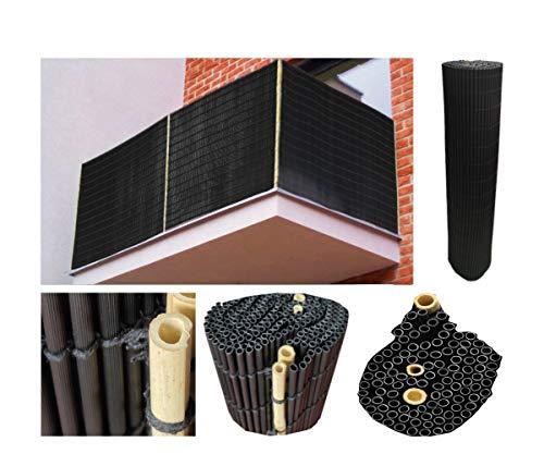 Comercial Candela Cañizo PVC Negro Ovalado 1X3 Metros