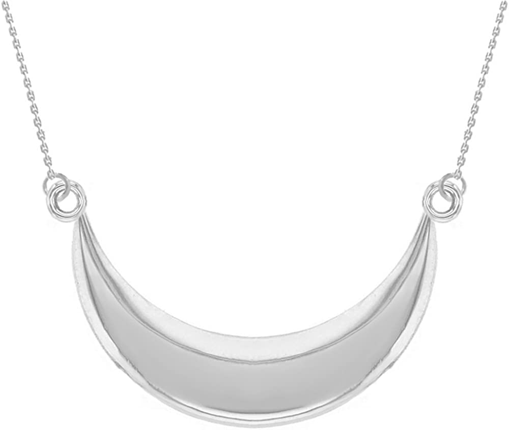 Fine 925 Sterling Popular brand Finally resale start Silver Necklace Crescent Moon Charm