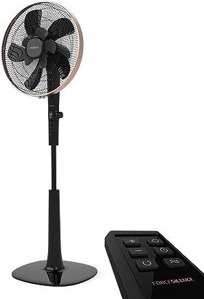 """Cecotec Forcesilence 1040 SmartExtreme Ventilador de Pie, 40 cm/16"""", 10 Aspas, 24 Velocidades, Pantalla LCD, Temporizador 18h, Regulable, Motor de cobre DC, Color Negro,"""