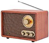 Retro Radio | Bluetooth | AM Radio | FM Radio | Teleskopantenne | Nostalgie Radio | Küchenradio | Nostalgieradio | Bluetooth Radio | Musikanlage | Kompaktanlage | Küchen Radio