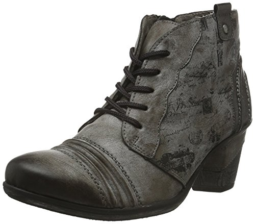 Remonte Damen D8771 Combat Boots, Grau (Cigar/schwarz/altsilber / 25), 41 EU