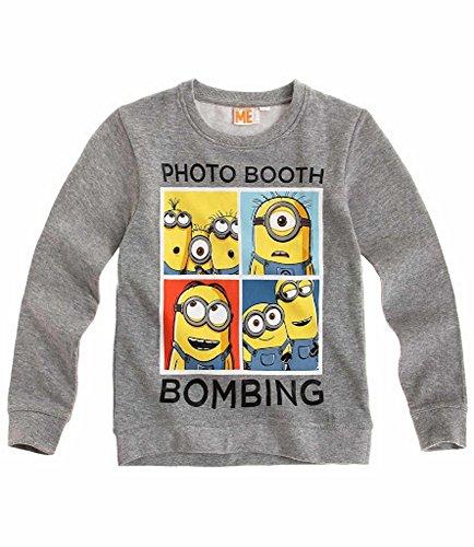 Minions Sweatshirt Pullover grau Sweater