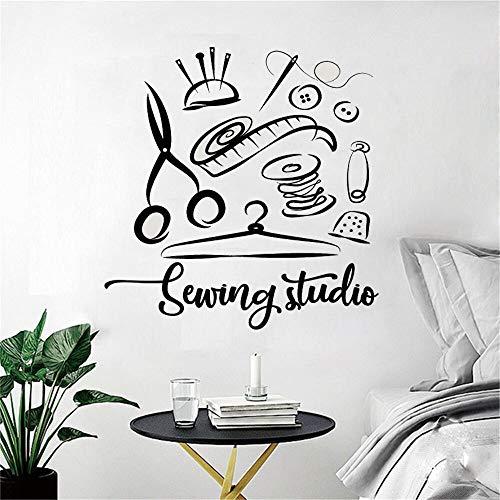 Estudio de costura pegatinas de pared estudio decoración del hogar hecho a mano sastre decoración de ventana película Mural pared calcomanía A6 42x42cm