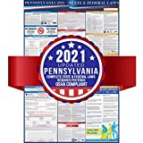 2019 Pennsylvania State and Federal Labor Laws Poster – OSHA Workplace Compliant 24' x 36' – Todo en uno requerido envío – UV Coated