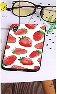 WONGYAN 2019 Protective Case Compatible with Oppo A73, Creative Cute Strawberry Watermelon Soft Silicone, Slim Lightweight Shockproof Scratch-Resistant (Color : 2)