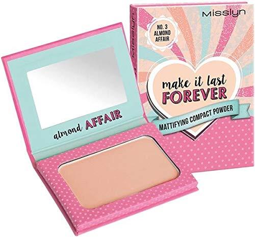 Misslyn Make It Last Forever Mattifying Compact Powder Almond Affair, 6 g