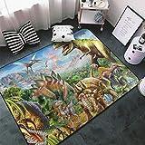 Beeder Dinosaur Jurassic 3D Printed Ultra Soft Carpet Indoor Modern Area Rugs Living Room for Bedroom Home Decor Bathroom Rug 60x39 Inch