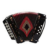 Rossetti, 34-Key Accordion (ROS3412-GCF-BK)