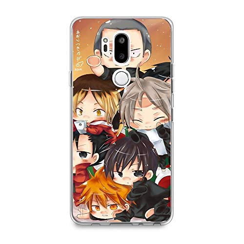Transparent Anti-Scratch Anti-Yellowing TPU Cover Soft Case for LG G7 ThinQ-Anime-Haikyuu Love Volleyball 2
