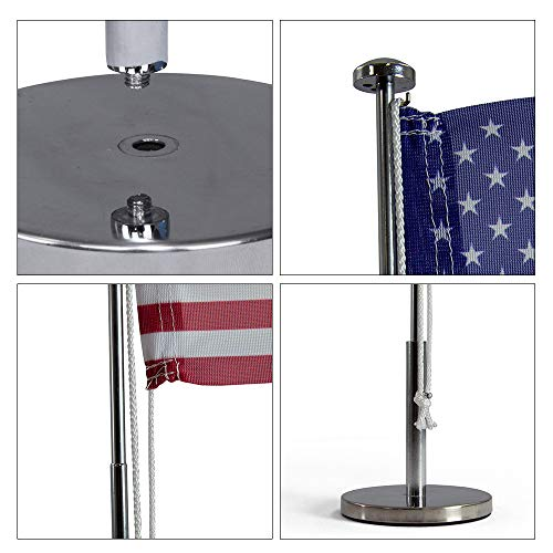 Vispronet Miniature USA Desk Flag and Stand � Height Adjustable 12.6in � 19.7in Telescopic Flagpole with Weighted Base � Flag Size 9.8in x 5.9in Photo #7