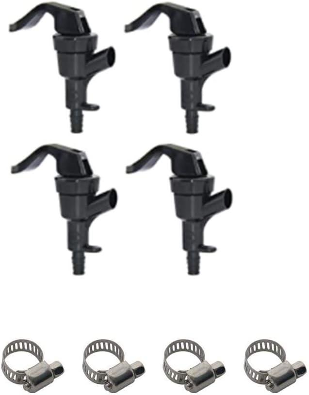PERA 4 Pack Black Plastic Squeeze Draft Beer Dispensing Picnic Tap faucet Party Pump Keg Squeeze Lever Tap Faucet Liquid Dispenser Tap homebrew