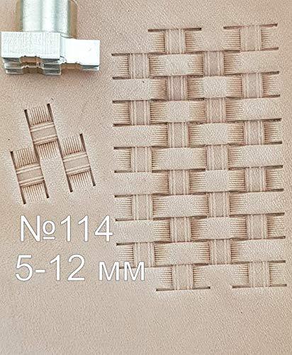 Schnitzstanzer Handwerk Sattel Messing #159 Leder-Werkzeug Stempel
