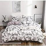 Home Bedding Parure de lit végan avec housse de couette Motif marbre Couleur : 01 Taille : 220 x 240 cm