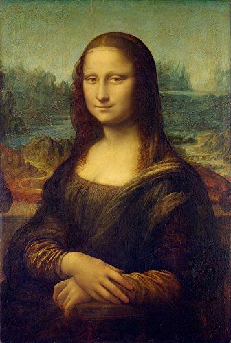 Berkin Arts Leonardo da Vinci Giclee Kunstdruckpapier Kunstdruck Kunstwerke Gemälde Reproduktion Poster Drucken(Mona Lisa)