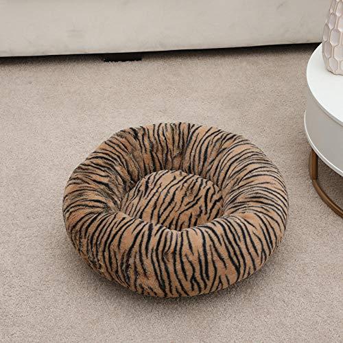 B/H Cuccia Cuscino,Cuccia Gatto,Materasso per Gatti con Materasso per Gatti-Leopardato Stampato_100cm