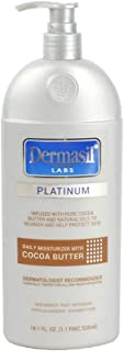 Cocoa Butter Face Moisturizing Lotion | Dry Skin Body Lotion & Face Protection for Soothing & Softens | Dermasil Labs Dermatologists Recommended Treatment Pump Cap Bottle (Cocoa Butter Lotion)