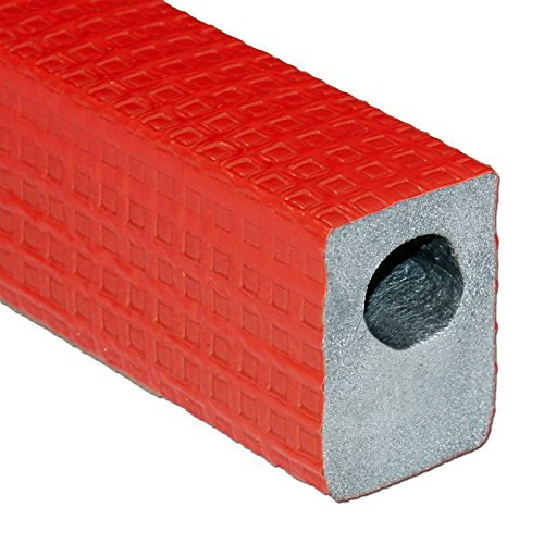 Austroflex 046DHR025028 Dämmhülse 28 x 25 mm 2m rot 100% EnEV Fußboden Rohrisolierung eckige Rohrdämmung