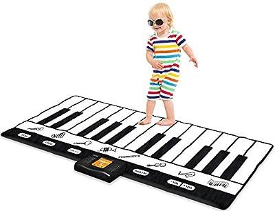 "Play22 Keyboard Playmat 71"" - 24 Keys Piano Play Mat - Piano Mat has Record, Playback, Demo, Play, Adjustable Vol. - Best Keyboard Piano Gift for Boys & Girls - Original from Play22"