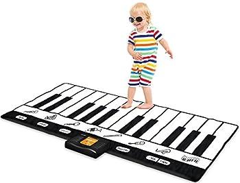Play22 Keyboard Playmat 71  - 24 Keys Piano Play Mat - Piano Mat has Record Playback Demo Play Adjustable Vol - Best Keyboard Piano Gift for Boys & Girls - Original